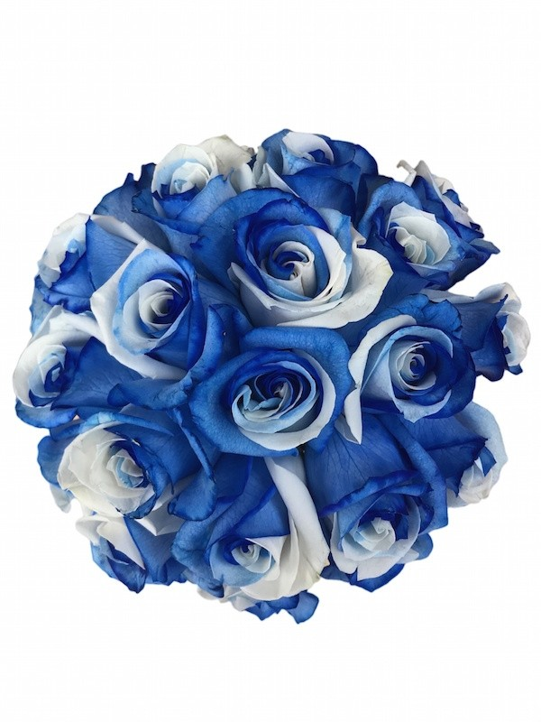 00eb6bbd9 ... Blue and White Roses Bouquet ...