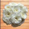 white garden roses alabaster