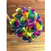 glitter tie dye roses