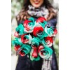 holiday three color roses
