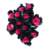 mystic topaz pink black roses