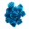 turquoise rose bouquet