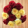 Assorted Red and Yellow Roses