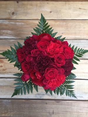 Tango - Red Roses Carnations Ranunculus Mixed Bouquet