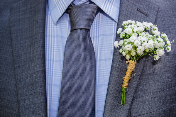 Benjamin's Baby's Breath Boutonniere