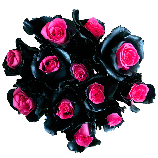 black pink bouquet