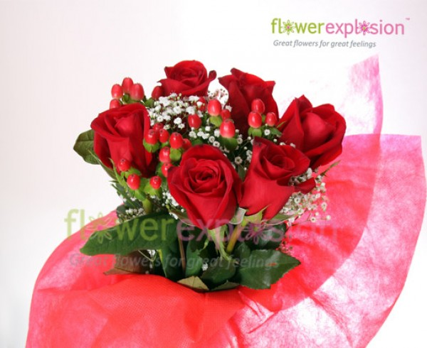 6 Roses Bouquet - Valentine's Day Special
