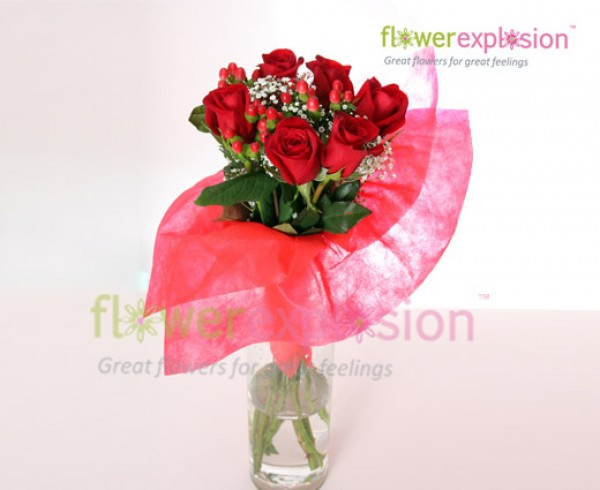 6 Rose Bouquet - Valentine's Day Special