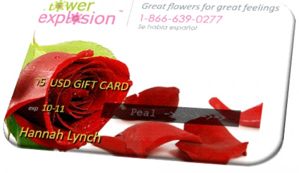 Flower Explosion $50 Gift Card