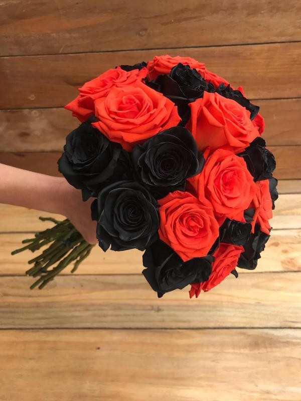 large halloween flowers