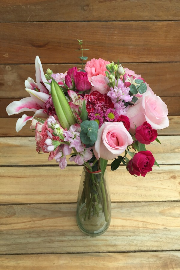 Lilies and Pink Flowers Bouquet