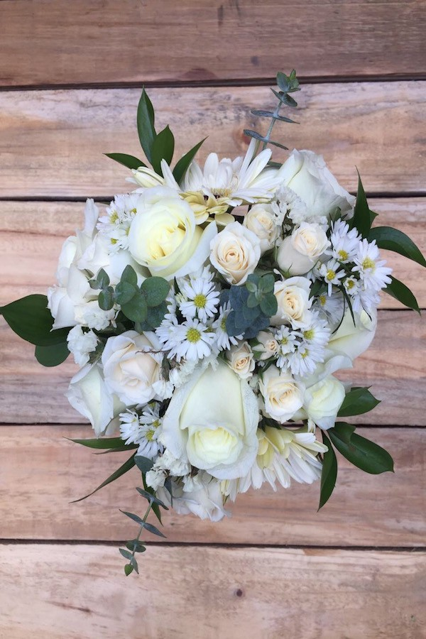 My Everything - White Daisies and Roses