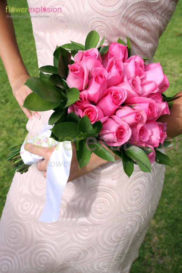 Example of a Pink Bridal/Bridesmaid Bouquet