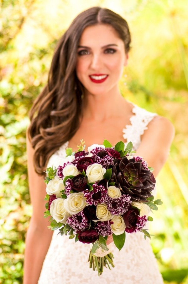 Purple-White-Bridal-Bouquet
