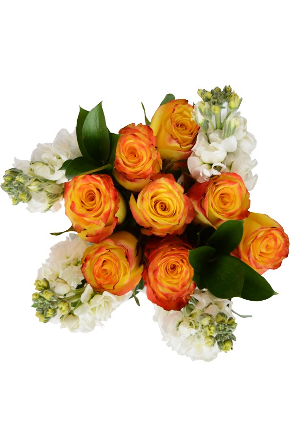 Assez Red & Yellow Fire & Ice Roses Bouquet JF89