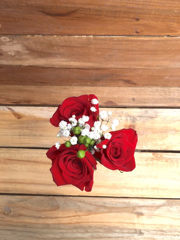 Three Rose Bouquet